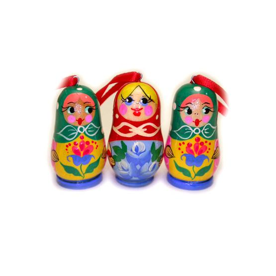 Matryoshka Wooden Christmas Ornament
