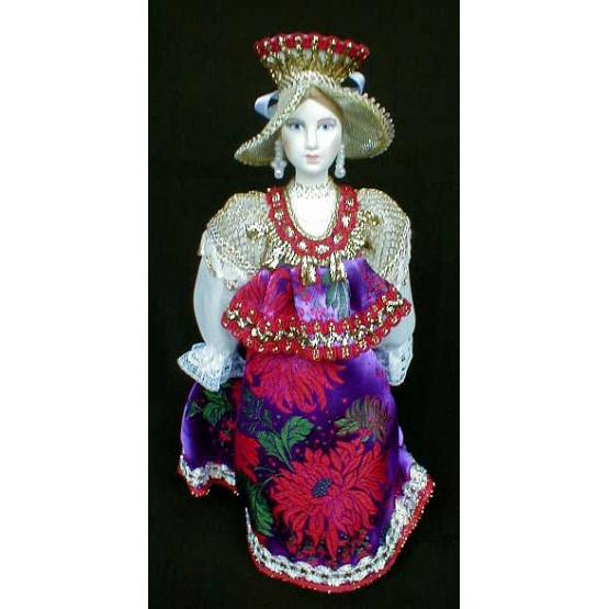 Novgorod Merchant's Wife Porcelain Doll