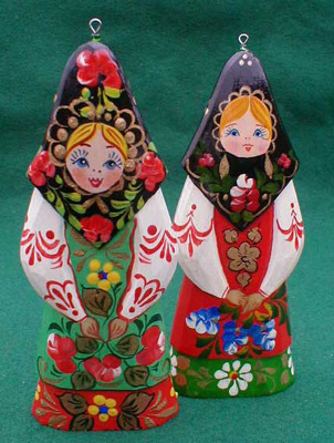 Russian Girl Christmas Ornament
