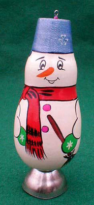 Snowman Christmas Ornament with Bell