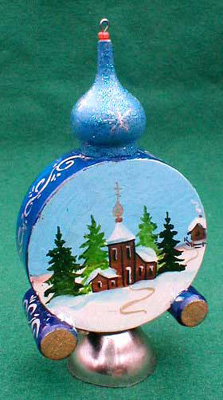 Winter Clock Christmas Ornament