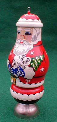 'Santa Claus' Christmas Ornament with Bell