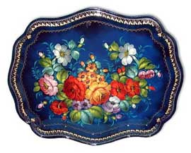 'Summer Flowers' Russian Tray