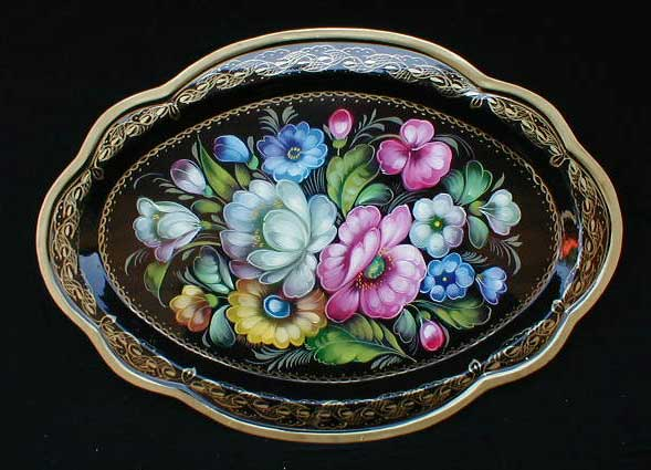 'Autumn Bouquet' Russian Tray