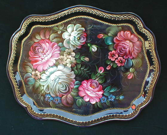 'March' Russian Tray