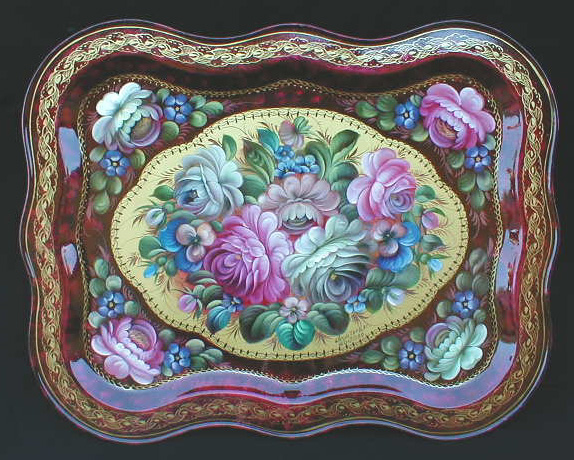 """Summer Garden"" Russian Tray"