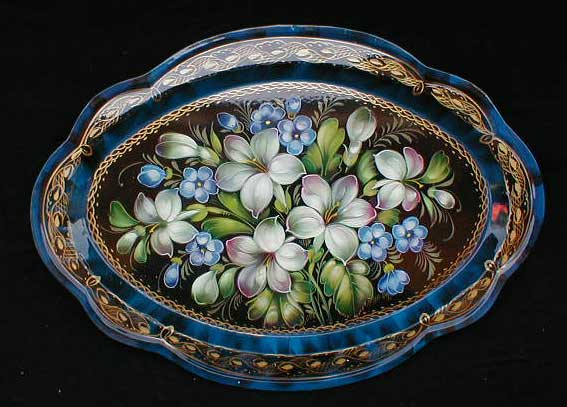 Lilies Russian Tray
