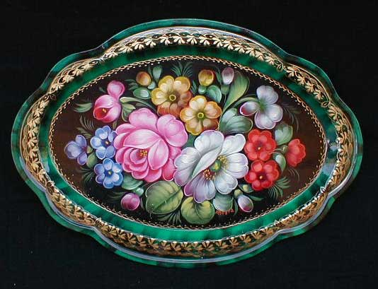 'Spring Bouquet' Russian Tray